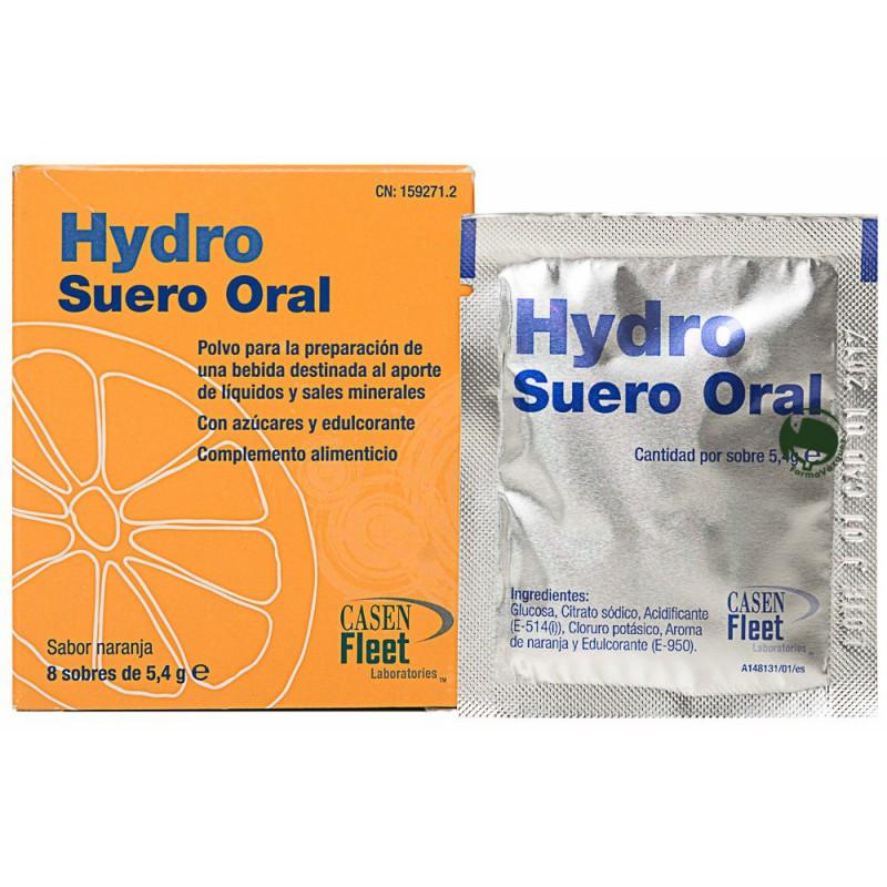 Sobres de suero oral para la deshidratación